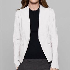 Theory Lanai Crepe Open Front Blazer Ivory